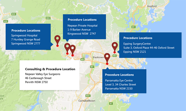 Nepean Valley Eye Surgeons Locations